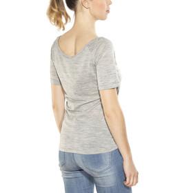 super.natural Essential Scoop Neck Tee 140 - Camiseta manga corta Mujer - gris